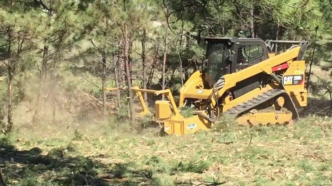 Skid-Steer Forestry Mulcher Invades Montana - Customer Video - Diamond  Mowers