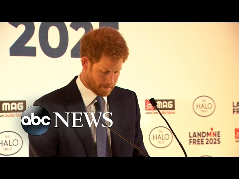 Thumbnail: Prince Harry honors Princess Diana's legacy in emotional speech about landmines