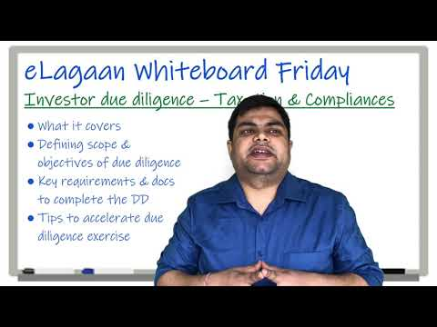 Investor due diligence - Taxation & Compliances [Whiteboard Friday]