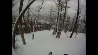 Skiing Gash Point - Bitterroot Mountain Range, Montana