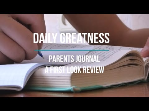 Daily greatness parents journal first look review