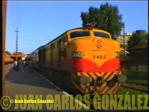Tren General partiendo de Retiro