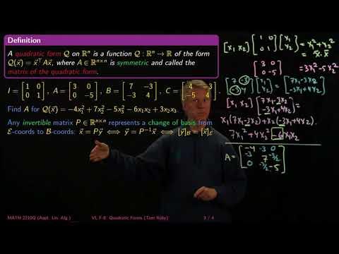 Quadratic Forms and Principal Axes - Linear Algebra - F9 - YouTube