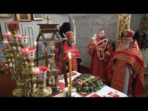 Чин Воздвижения Креста в Спасо-Вознесенском монастыре на Елеонской горе.