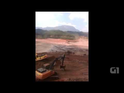 Vídeo mostra momento do rompimento de barragem em Mariana
