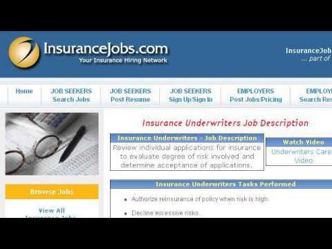 Job Description For An Insurance Underwriter's Assistant