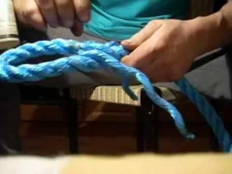 Вязание петель на буксировочном канате  очумелые ручки.
