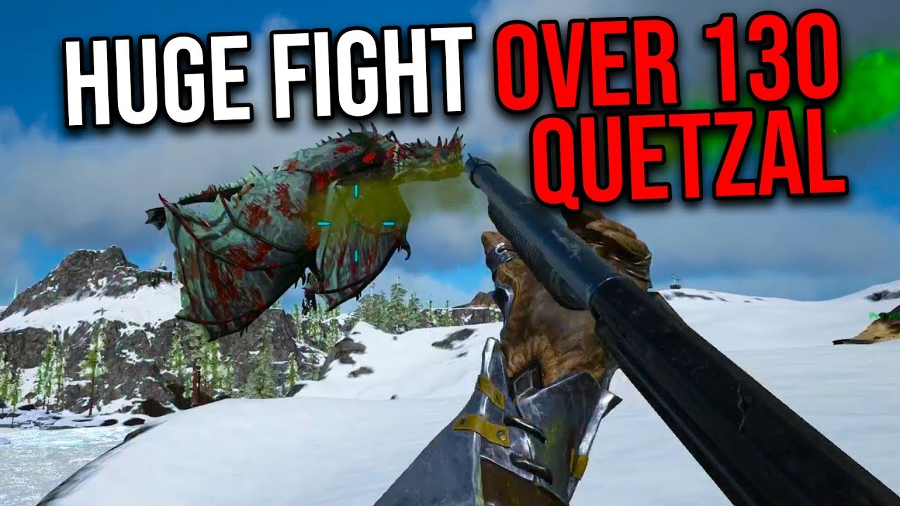 FIGHTING OVER A QUETZAL?!   ARK MTS TRIO PVP