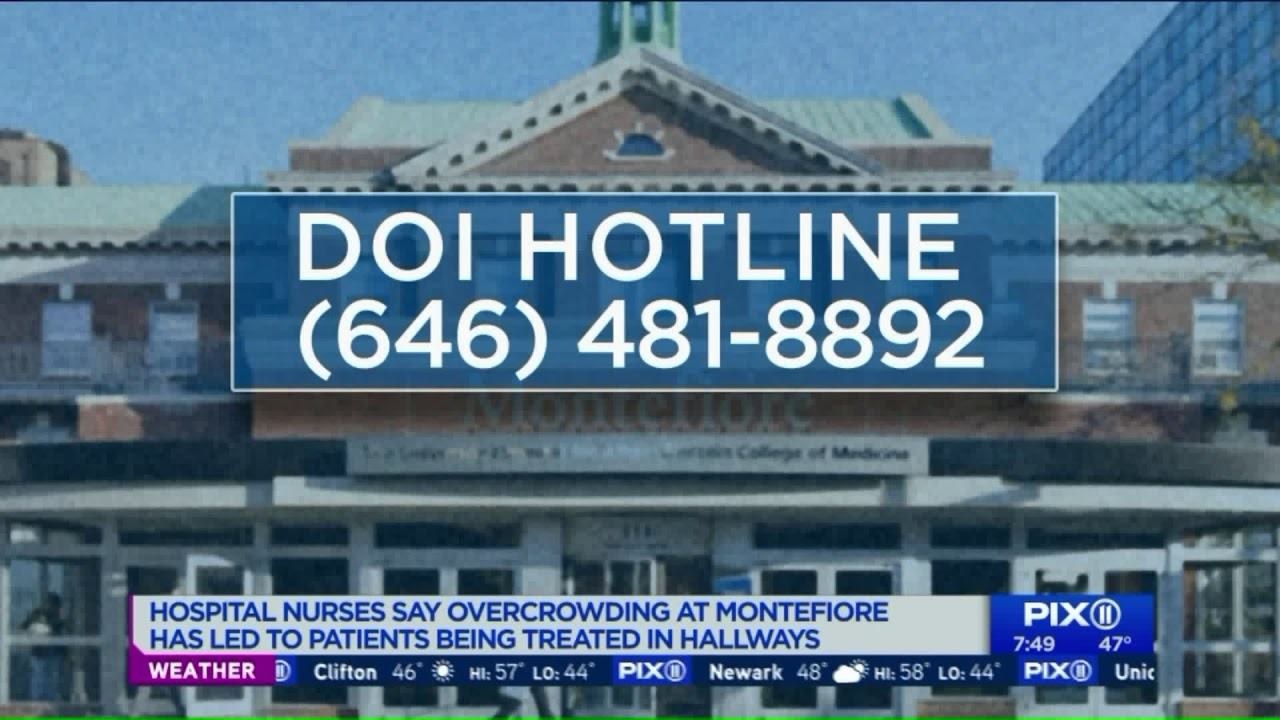 Overcrowding at Montefiore Hospital has led to patients being treated in  hallways: nurses