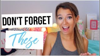 Things You WILL FORGET to Bring to College!
