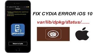 How to fix /var/lib/dpkg/status error iOS 10/11 (ALTERNATIVE WAY, without mTerminal)