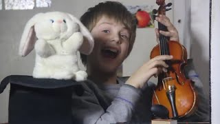 Introducing Kids to the Violin - The Funny Bunny Show
