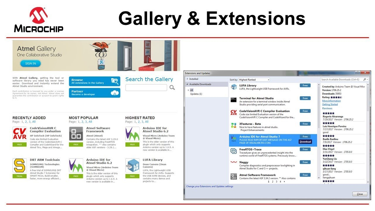 Getting Started with Atmel Studio 7 - Episode 5 - Gallery and Extensions
