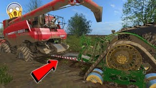 COMBINE STUCK IN DEEP MUD | JOHN DEERE 9RX | FARMING SIMULATOR 2017