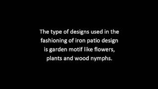 Cast Iron Patio Furniture Tips | Wrought Iron Patio Furniture Guide