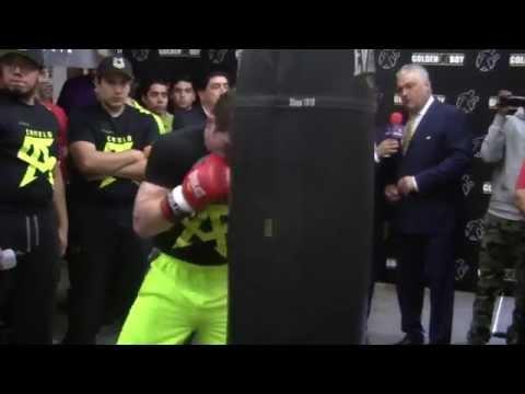 Saul Canelo Alvarez BANGS HEAVY BAG WORKOUT! canelo alvarez vs james kirkland