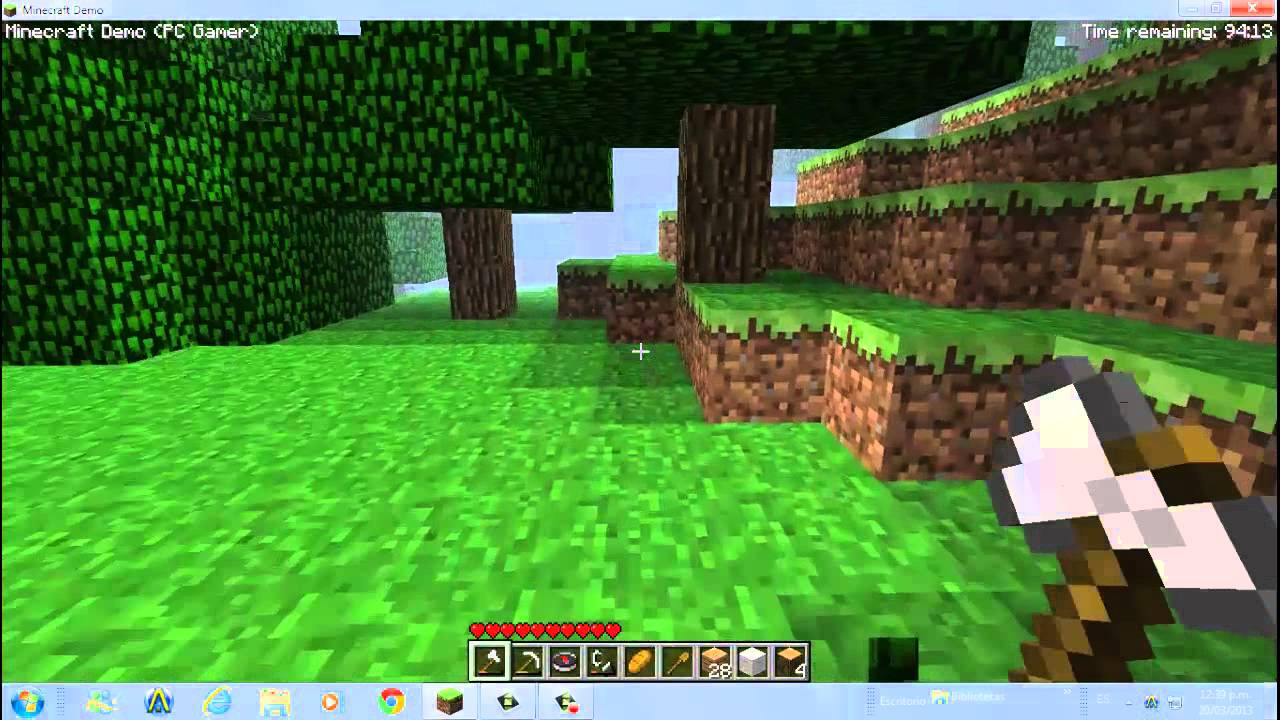 For Minecraft Pc Game Case : Minecraft survival pc gamer demo youtube
