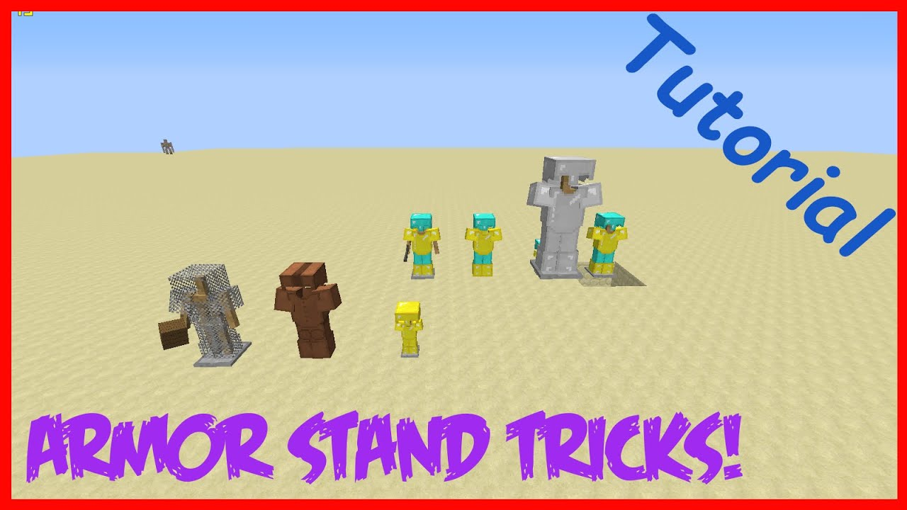 how to make minecraft armour stand