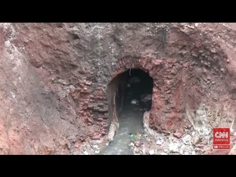 Heboh, Penemuan Lorong Bawah Tanah, saat Penggalian Drainase di Serang Banten