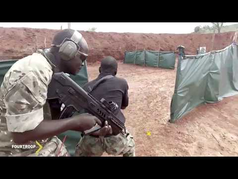 Brave Nigerian army in combat training.