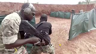 Brave Nigerian army in combat training