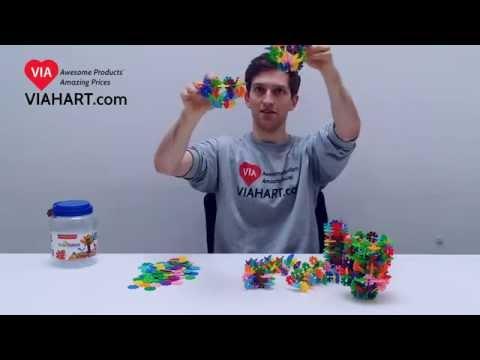 VIAHART Brain Flakes® Interlocking Plastic Discs | How to Build a Ferris Wheel!