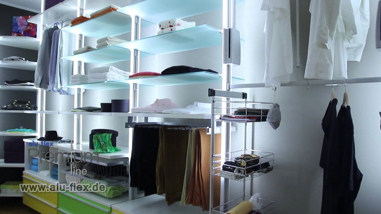 alu mobile systeme spot der begehbare kleiderschrank funktion mit system youtube. Black Bedroom Furniture Sets. Home Design Ideas