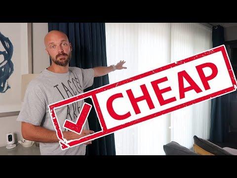 CHEAP Way to HANG Curtains & Drapes - DAD HACK