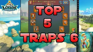 Top 5 traps of week #6. Quad Rally traps, solos eating rallies, noceros traps. Lords mobile.