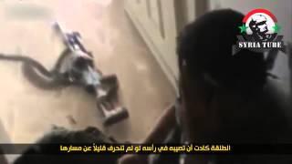 СИРИЯ РАНЕНИЕ НАЁМНИКА ССА В ГОЛОВУ (Syrian Civil War )
