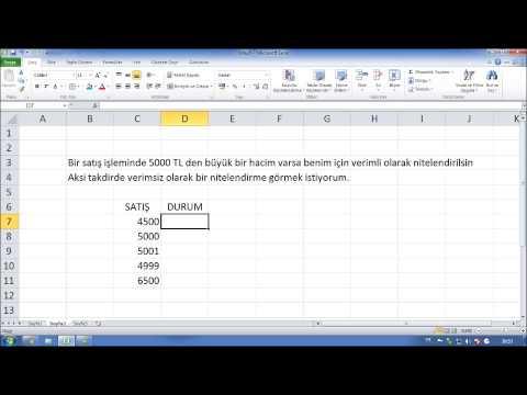 Excel Kursu Eğitimi Videosu - Excelde Eğer İşlevi