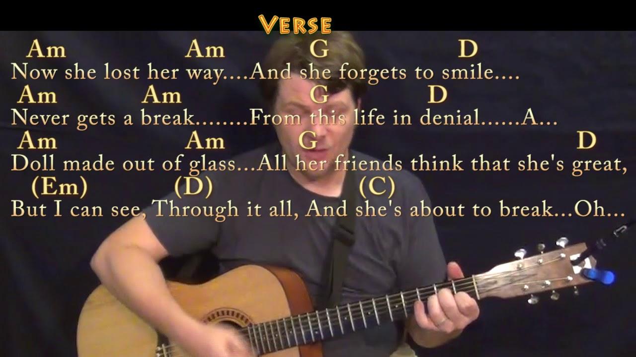 Moonlight Grace Vanderwaal Strum Guitar Cover Lesson In G With