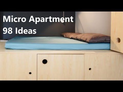 Micro Apartment 98 Ideas (Extra-Small Living Spaces)