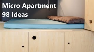 Micro Apartment 98 Ideas  Extra-small Living Spaces