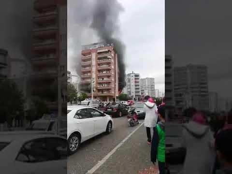 Mersin'de Ev Yangını Korkuttu !
