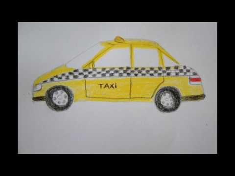 taxi auto zeichnen f r kinder how to draw a taxi car for children. Black Bedroom Furniture Sets. Home Design Ideas