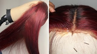 BRIGHT RED WITHOUT BLEACH & PROTECT THE LACE! | feat. Wiggins Hair