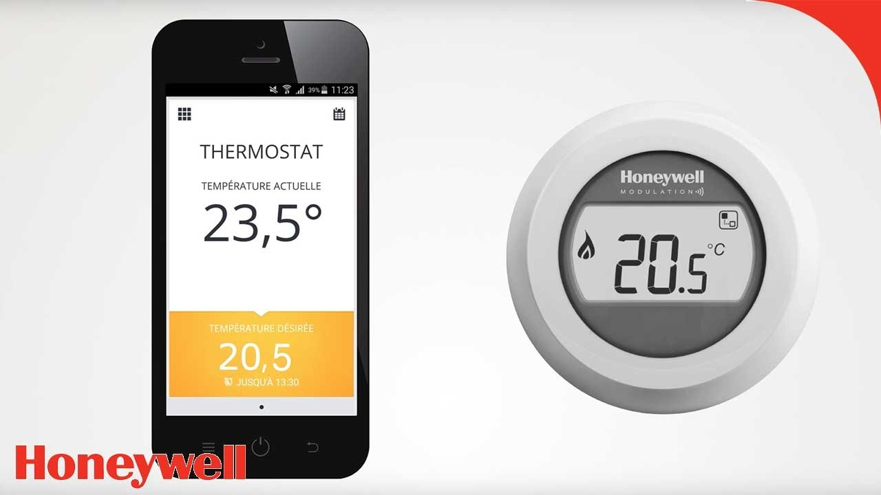 thermostat d 39 ambiance connect y87 honeywell honeywell home youtube. Black Bedroom Furniture Sets. Home Design Ideas