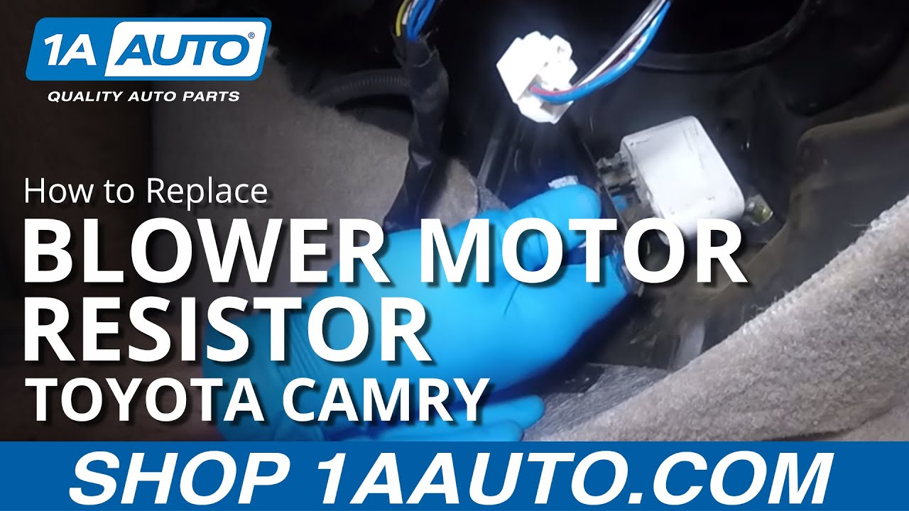 How to Replace Install Blower Motor Resistor 98 Toyota Camry YouTube