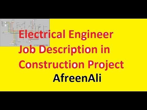 Electrical Engineer Job Description In Construction  Youtube