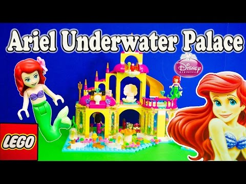 LITTLE MERMAID  Princess Lego Ariel Undersea Castle Toys Video