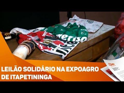 Leilão solidário na Expoagro de Itapetininga - TV SOROCABA/SBT