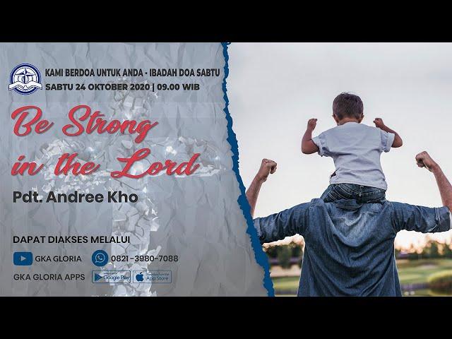 Kami Berdoa Untuk Anda - 24 Oktober 2020