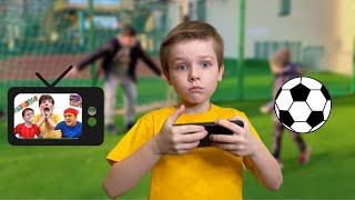 Андрей и активные игры для детей на улице.