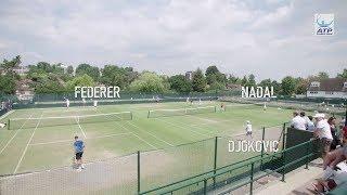 Federer, Nadal, Djokovic Train Side By Side At Wimbledon 2018