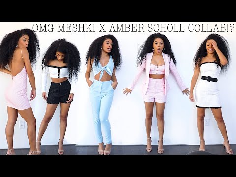 Trying On Amber Scholl X Meshki Collab! Worth it? | jasmeannnn