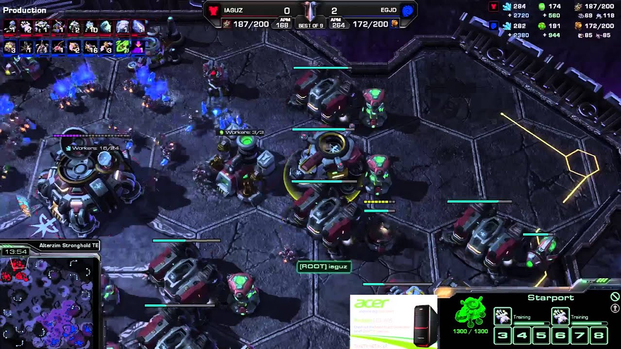 Jaedong vs. Iaguz - EG vs. Root - Game 3 - StarCraft 2