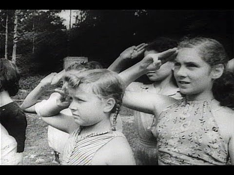 HD Historic Archival Stock Footage WWII - German-American Children Go To Kids Camp 1942