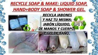 Gel de Baño,Jabon Liquido de Jabon Pasta(Pastilla)/DIY How Make Bath Gel,Body&Hands Liquid Soap EASY Thumbnail