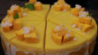 Cách làm CHEESECAKE XOÀI không cần lò nướng | No-Bake Mango Cheesecake